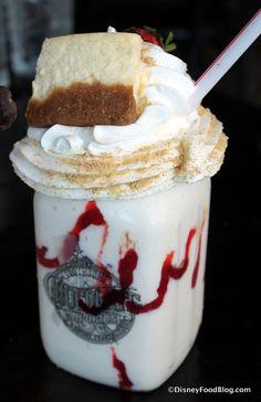 Strawberry Cheesecake Milkshake at The Toothsome Chocolate Emporium & Savory Feast Kitchen at Universal Orlando's CityWalk