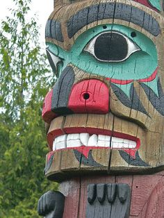 Tlingit totem poles at Saxman Village near Ketchikan Alaska (32), via Flickr.