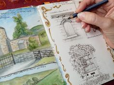 watercolor journaling | drawing window in Alnwick 2 re 300x225 Creative Journaling
