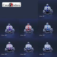 CasaPandora 7 Colores FatTonny Pumpkin Carriage Silla Fit Pandora Pulsera Del Encanto de DIY Esmalte Fabricación de Collares Pingente Berloque