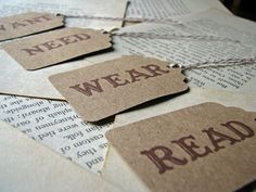 four gifts- want, need, wear, read. such a great idea for birthday baskets, christmas, etc.