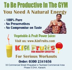 Serious Gym Going Geeks Definitely Need Internal Strength Boosters Which Energizes Them To Continue With Their Intense Workouts.Fruits & Vegetables Juices + Mock-tails Are The Quickest & Economical Way To Maintain Healthy Lifestyle ? http://kinfruits.com/menu/