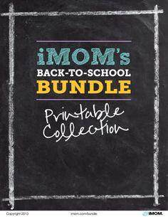 Back to School Printable Collection 2014 - iMom