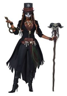 The Voodoo Magic Witch Doctor Costume for women includes a witch doctor-style outfit and accessories. Cast voodoo spells at the Halloween party dressed as a witch doctor! Voodoo Priestess Costume, Voodoo Costume, Voodoo Halloween, Hallowen Costume, Scary Halloween Costumes, Halloween Party, Snake Costume, Halloween Costumes Women Scary, Adult Halloween