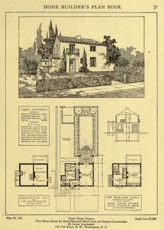 Home Builder's Plan Book, 1921.  Building Plan Holding Corporation. From the Collection of the Winterthur Museum Library