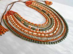 """Ceramic necklace - Намисто """"Святкове"""""""