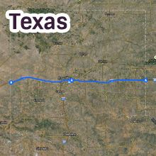 Texas Route 66 Map