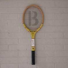 vintage 1970s tennis racket #favoriteletter