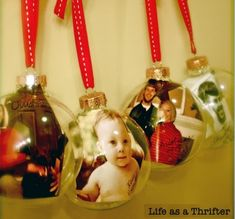 7 Simple DIY Ornaments For Baby's First Christmas