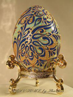 EASTER Souvenir Egg Hand painted wooden by ARTandSOULbySharkiss