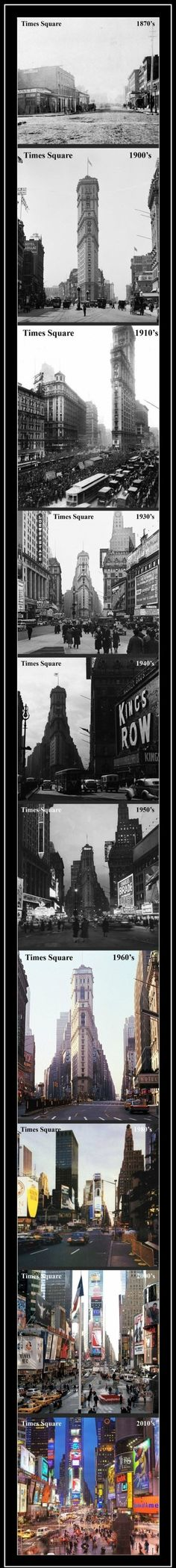Times Square Over The Years. This is pretty neat!