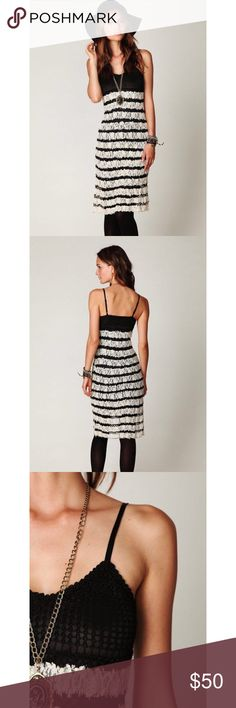 NWT Free People Black and Cream Lace Maxi Beautiful NWT free people lace maxi. Beautiful for transition from summer to fall. Can easily be dressed up with a leather jacket. Size small. Free People Dresses Maxi