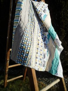 Rag Quilt Crib Blanket. Down Under. Chevron by littlebucksanddoes, $104.00