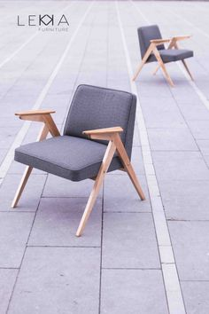 Armchair from 70s. Designed by J.Chierowski. model 300-177 redesigned by Lekka furniture