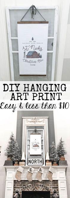 DIY Hanging art prin