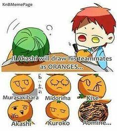 Kuroko no Basket~ Akashi oranges Kuroko Chibi, Akashi Kuroko, Akashi Seijuro, Anime Chibi, Cool Anime Guys, I Love Anime, Kuroko No Basket Characters, Kiseki No Sedai, Akakuro