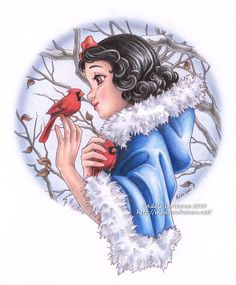 Artist Adele Lorienne ...Snow White Winter   • Mechanical and Colored pencils  • 10-15 hours total time  • Completed 2010      Copyright Ade...