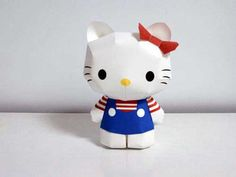 Hello Kitty paper origami instructions!!