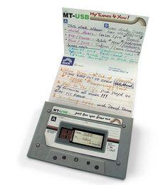 The new 'mixtape' 1GB USB stick inside cassette casing :)