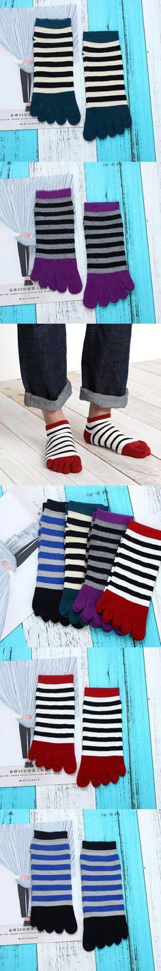 1Pairs Cotton Toe Socks Striped Colorful Patchwork Men Five Finger Socks Casual Hot Sale Fashion Miesten sukat 5 #DD