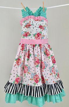 71557e3fdb09 Watercolor Floral Dot Dress