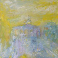 Galerie Classico 20 Jahre Ilmari Rautio: Brandenburger Tor am Morgen, 80x80 cm, August 2013.