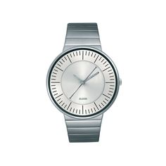 Alessi Luna Watch - Silver Update your accessories with this delightful Luna watch from Alessi. Made from stainless steel, this stylish watch designed by Alessandro Mendini, has a calming round face with a classic design perfec