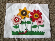 cloth book flowers