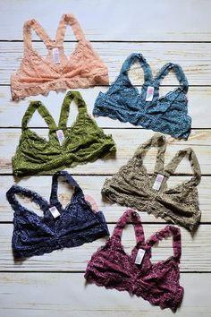 f296c5cdc0 Lace Bralette-Racerback Online Clothing Boutiques