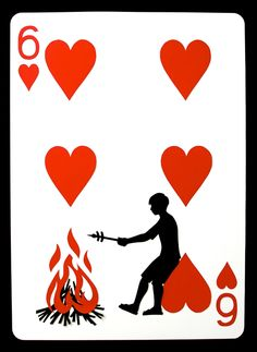 2-foot tall hand-cut playing cards by Ncyclopedia. Click through and look at all of these!