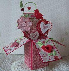 Valentine Pop-Up Box Card by doodlegirl2 - Cards and Paper Crafts at Splitcoaststampers
