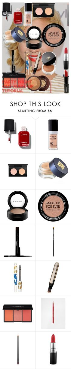 PARTY NIGHT OUT MAKE-UP TUTORIAL by oroartye-1 on Polyvore featuring beauty, By Terry, MAKE UP FOR EVER, Estée Lauder, MAC Cosmetics, Pacifica, Lord & Berry, Barry M and Chanel