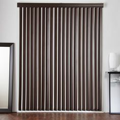 "3 1/2"" Designer Faux Wood Vertical Blinds from SelectBlinds.com"