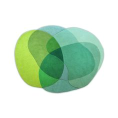 Discover the Sonya Winner Jellybean Rug - Lime - 100x120cm at Amara