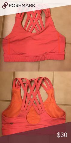 Coral Lululemon Sports Bra Coral Lululemon Sports Bra in size 2 lululemon athletica Intimates & Sleepwear Bras