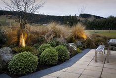 Hunters Retreat | Design & Garden Landscapes | Dunedin, NZ Kitchen Room Design, Luxury Kitchen Design, Kitchen Cabinet Design, Kitchen Layout, Kitchen Ideas, Kitchen Decor, House Landscape, Garden Landscape Design, Landscape Plans