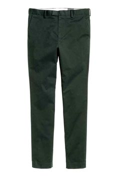 Premium cotton chinos - Dark green - Men | H&M GB