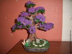 Бисерное дерево `Фиолетовые мечты`. Бисерное дерево с…