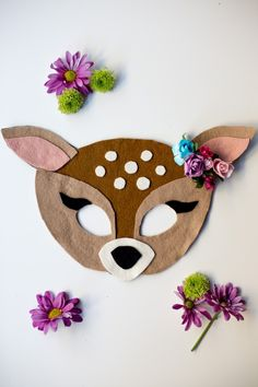 FREE Felt Fawn Mask Pattern by Anne Weil of Flax & Twine                                                                                                                                                                                 More