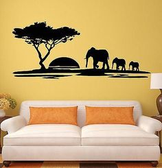 Savannah Tree Blackboard Wall Tattoos Baby Room Decor - Wall decals animalsafrican savannah wall sticker decoration great trees with