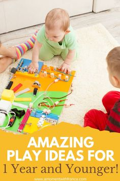 Amazing Play Ideas for 1 Year and Younger - if you have a little one who is crawling or looking to explore more and more, these fun play ideas are perfect for some inspiration.