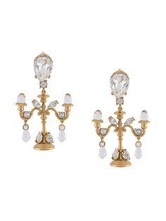 Dolce & Gabbana Chandelier-Ohrclips mit Kristallen