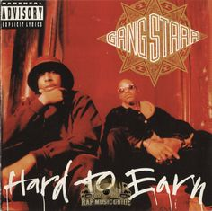 """Gang Starr: Hard to Earn: a perfect album with a perfect title. Do hip-hop (or pop or """"indie rock"""") artists today really work hard to earn respect? Or just money? What an underrated classic. It makes most of today's hip-hop just seem lame. Classic Hip Hop Albums, Rapper, Gang Starr, Dj Premier, Hip Hop Lyrics, Rap Albums, Google Play Music, Hip Hop Art, Rap Music"""