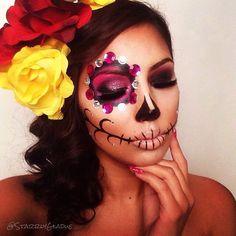 @starrlygladue sugar skull makeup