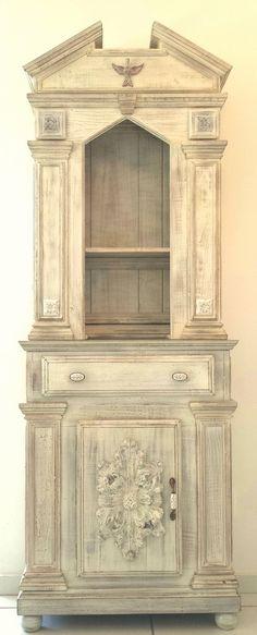 altar / oratório em madeira maciça réplica histórica