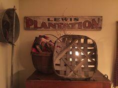 Plantation sign & tobacco basket
