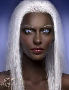 Blue eyes are rare among the Chyr, and they are considered to be signs of holy parentage by the priests of the Song as well as a sign that its posesser has claim to the throne of Chyr. A ruler's hair is dyed white to more resemble the Goddess of Laurels.