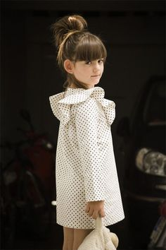 polka dot dress. SS14 Motoreta #kids #fashion