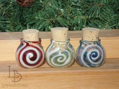 Handmade Glass Apothecary Spice Stash Jars-Medium by LampworkBench