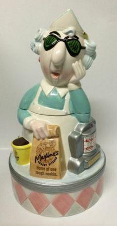 Hallmark Grumpy Maxine Cookie Jar Crabby Kitchen Vintage Diner Restaurant Theme